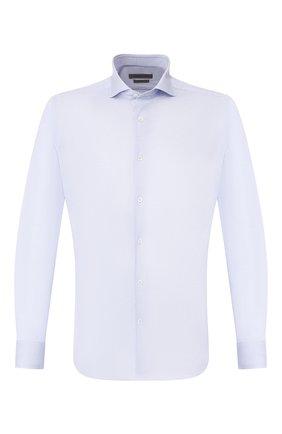Мужская хлопковая сорочка CORNELIANI голубого цвета, арт. 85P012-0111213/00 | Фото 1
