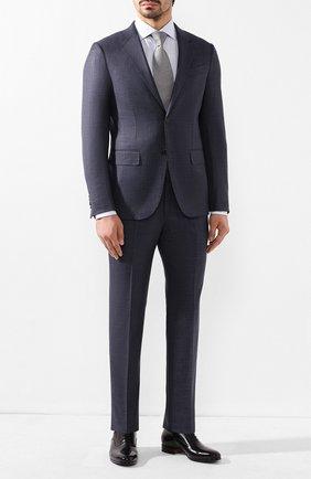 Мужской костюм из смеси шерсти и шелка ERMENEGILDO ZEGNA темно-синего цвета, арт. 716026/25M22Y | Фото 1