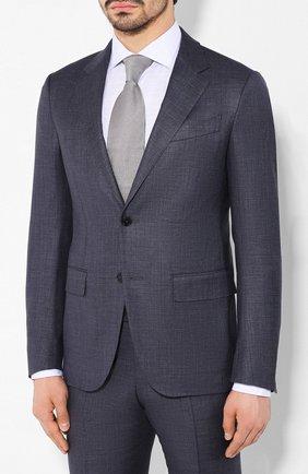 Мужской костюм из смеси шерсти и шелка ERMENEGILDO ZEGNA темно-синего цвета, арт. 716026/25M22Y | Фото 2