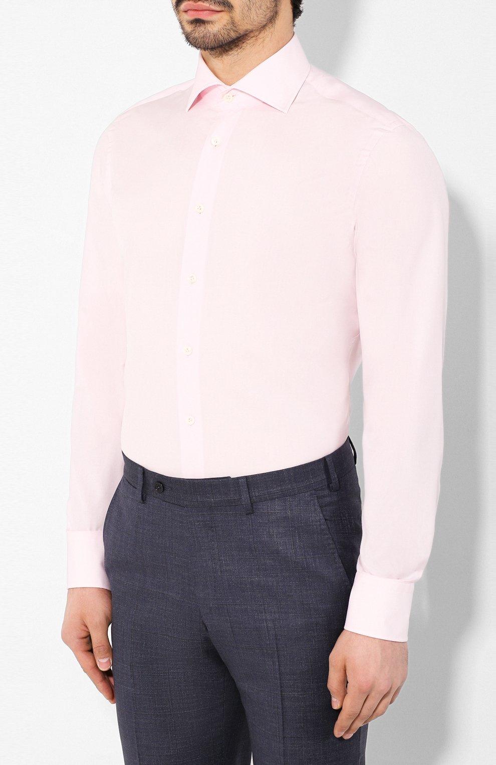 Мужская хлопковая сорочка VAN LAACK розового цвета, арт. RIVARA-SFN/150190 | Фото 3