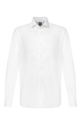 Мужская сорочка из смеси хлопка и льна VAN LAACK белого цвета, арт. MIVARA-DTF/150054 | Фото 1