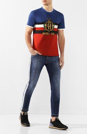 Мужские джинсы DOLCE & GABBANA синего цвета, арт. GW96LD/G8CC7   Фото 2