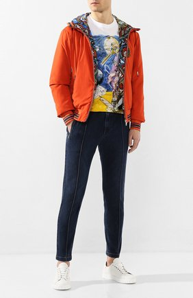 Мужские джинсы DOLCE & GABBANA темно-синего цвета, арт. GYACED/G8CB9 | Фото 2