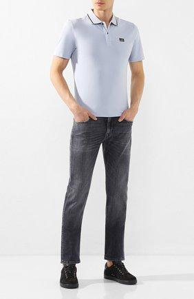 Мужское хлопковое поло C.P. COMPANY голубого цвета, арт. 08CMPL035A-005263W | Фото 2