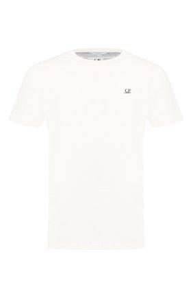 Мужская хлопковая футболка C.P. COMPANY белого цвета, арт. 08CMTS108A-005100W | Фото 1