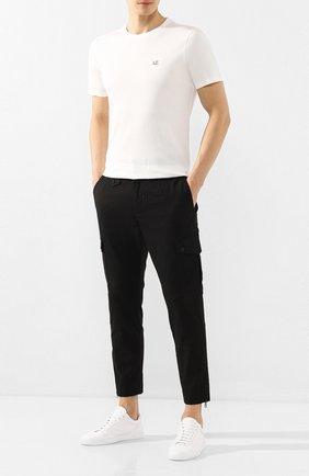Мужская хлопковая футболка C.P. COMPANY белого цвета, арт. 08CMTS108A-005100W | Фото 2