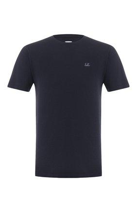 Мужская хлопковая футболка C.P. COMPANY темно-синего цвета, арт. 08CMTS108A-005100W | Фото 1