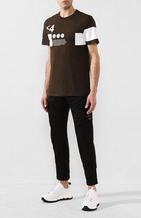 Мужская хлопковая футболка C.P. COMPANY хаки цвета, арт. 08CMTS170A-005679W | Фото 2