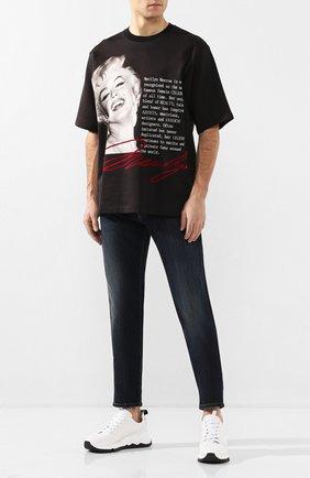 Мужская хлопковая футболка DOLCE & GABBANA черного цвета, арт. G9RQ0T/FI7PE | Фото 2