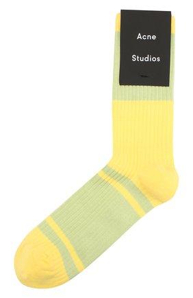 Мужские носки ACNE STUDIOS желтого цвета, арт. C80020/M | Фото 1