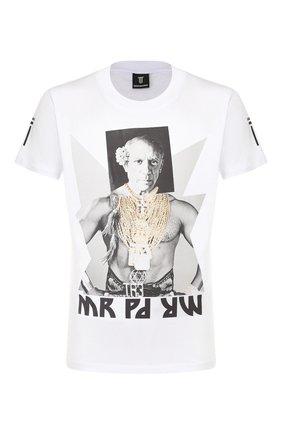 Мужская хлопковая футболка DIEGO VENTURINO белого цвета, арт. SS20-DV TS MPP | Фото 1