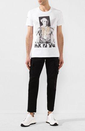 Мужская хлопковая футболка DIEGO VENTURINO белого цвета, арт. SS20-DV TS MPP | Фото 2