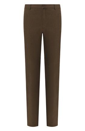 Мужские льняные брюки LORO PIANA хаки цвета, арт. FAL1502   Фото 1