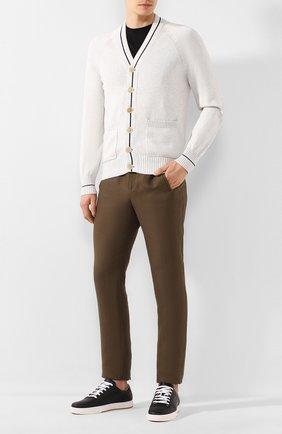 Мужские льняные брюки LORO PIANA хаки цвета, арт. FAL1502   Фото 2