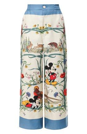 Шелковые брюки Disney x Gucci   Фото №1