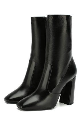 Женские кожаные ботильоны maddie SAINT LAURENT черного цвета, арт. 606297/1P100 | Фото 1