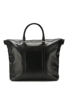 Женский сумка-тоут supple SAINT LAURENT черного цвета, арт. 608958/1R00E   Фото 1 (Размер: large; Материал: Натуральная кожа; Сумки-технические: Сумки-шопперы)