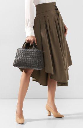 Женская сумка-тоут BOTTEGA VENETA темно-серого цвета, арт. 607327/VCPP1 | Фото 2