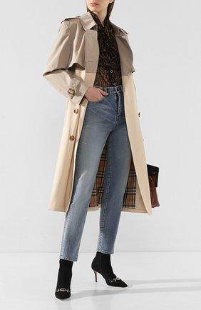 Текстильные ботильоны Gucci Zumi | Фото №2