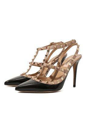 Женская кожаные туфли valentino garavani rockstud VALENTINO черного цвета, арт. TW2S0393/VNW | Фото 1