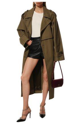 Женская кожаные туфли valentino garavani rockstud VALENTINO черного цвета, арт. TW2S0393/VNW | Фото 2
