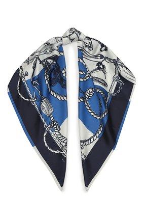Женский шелковый платок ST. JOHN синего цвета, арт. A52Y032 | Фото 1