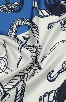 Женский шелковый платок ST. JOHN синего цвета, арт. A52Y032 | Фото 2