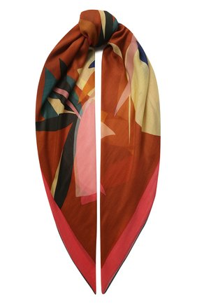 Женский платок bougainville из смеси кашемира и шелка LORO PIANA коричневого цвета, арт. FAL1448 | Фото 1