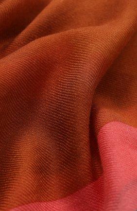 Женский платок bougainville из смеси кашемира и шелка LORO PIANA коричневого цвета, арт. FAL1448 | Фото 2