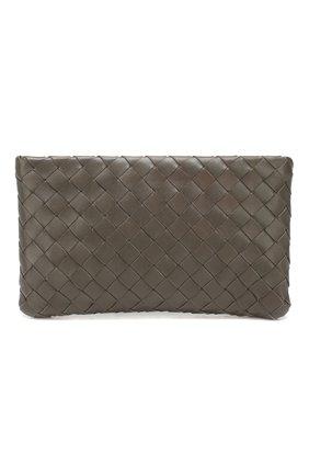Женские кожаный футляр для документов BOTTEGA VENETA темно-серого цвета, арт. 608230/VCPP2 | Фото 1