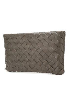Женские кожаный футляр для документов BOTTEGA VENETA темно-серого цвета, арт. 608230/VCPP2 | Фото 2