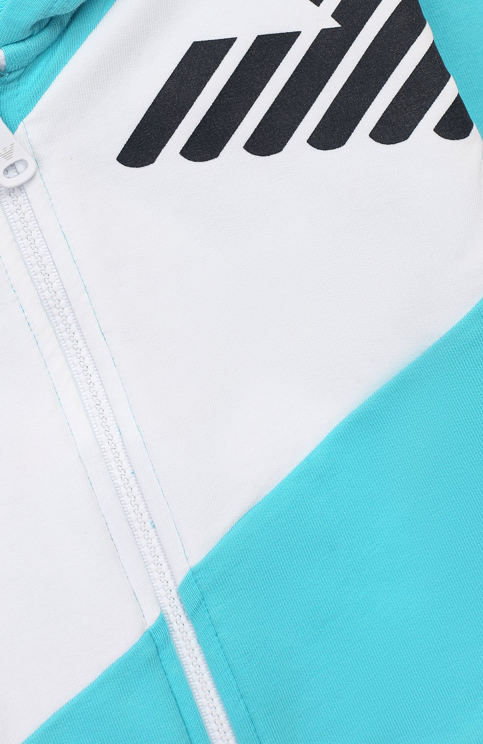 Детский комплект из толстовки и брюк EMPORIO ARMANI бирюзового цвета, арт. 3HHV04/4J23Z | Фото 4