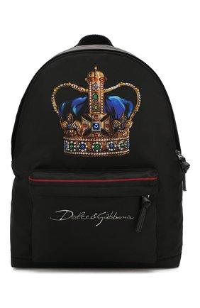Детская рюкзак DOLCE & GABBANA черного цвета, арт. EM0074/AN034 | Фото 1