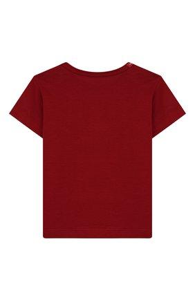 Детский хлопковая футболка DOLCE & GABBANA красного цвета, арт. L1JT6S/G7VJS | Фото 2