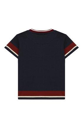 Детский хлопковая футболка DOLCE & GABBANA темно-синего цвета, арт. L1JT7W/G7VIV | Фото 2