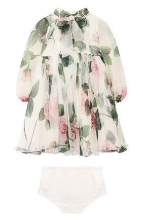Женский комплект из платья и шорт DOLCE & GABBANA белого цвета, арт. L22DC6/IS1BC | Фото 1