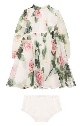 Женский комплект из платья и шорт DOLCE & GABBANA белого цвета, арт. L22DC6/IS1BC | Фото 2