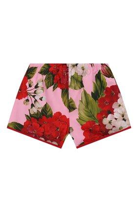 Детского плавки-шорты DOLCE & GABBANA розового цвета, арт. L5JQ51/HSM26/2-6   Фото 2