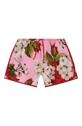 Детские плавки-шорты DOLCE & GABBANA розового цвета, арт. L5JQ51/HSM26/8-14   Фото 1