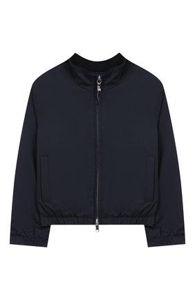 Детского куртка LORO PIANA темно-синего цвета, арт. FAI0843 | Фото 1