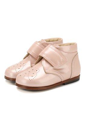 Детские кожаные ботинки GALLUCCI бежевого цвета, арт. T20076AS/SC P C G0M VEP   Фото 1