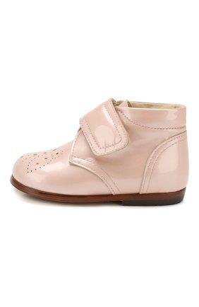 Детские кожаные ботинки GALLUCCI бежевого цвета, арт. T20076AS/SC P C G0M VEP   Фото 2
