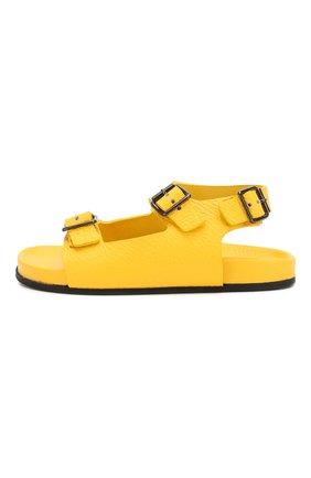 Детские кожаные сандалии GALLUCCI желтого цвета, арт. T10029AM/SA T G0M D0L | Фото 2