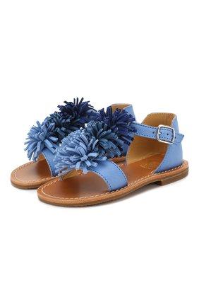Детские кожаные босоножки GALLUCCI синего цвета, арт. T10025AT/SA P C PTD MAI | Фото 1