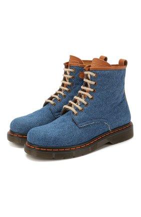 Детские текстильные ботинки GALLUCCI синего цвета, арт. J30083AM/TR P V G0M TDG/MAI | Фото 1