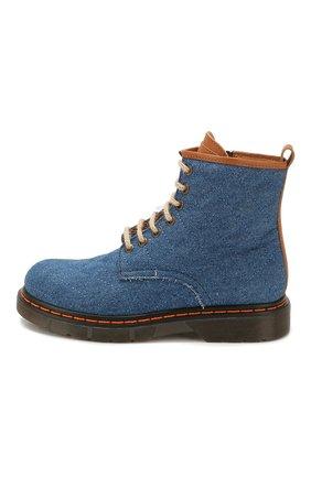 Детские текстильные ботинки GALLUCCI синего цвета, арт. J30083AM/TR P V G0M TDG/MAI | Фото 2