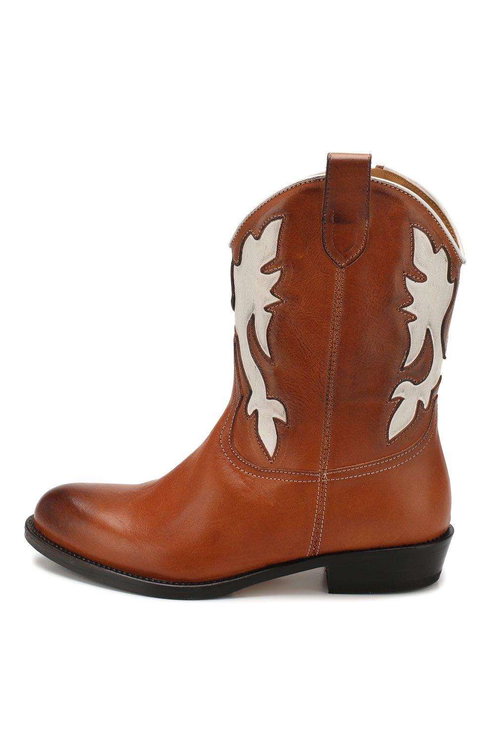 Детские кожаные сапоги GALLUCCI коричневого цвета, арт. J30080AM/TR P V CUG MAI/NAP | Фото 2 (Кросс-КТ: полусапоги; Материал внутренний: Натуральная кожа)