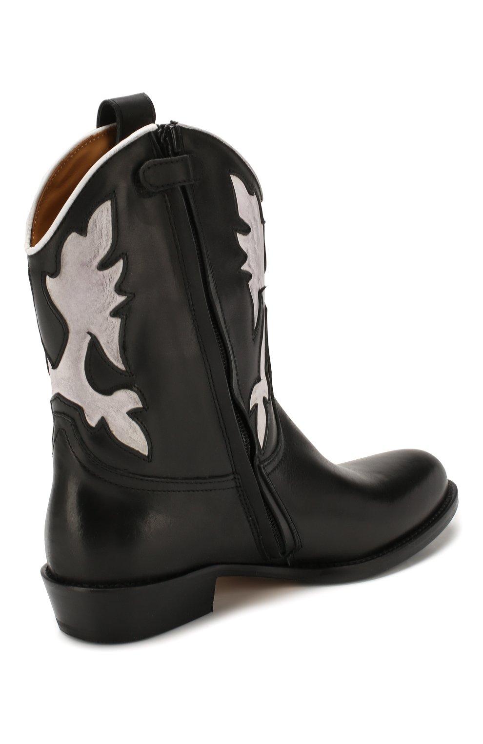 Детские кожаные сапоги GALLUCCI черного цвета, арт. J30080AM/TR P V CUG MAI/NAP   Фото 3 (Кросс-КТ: полусапоги; Материал внутренний: Натуральная кожа)