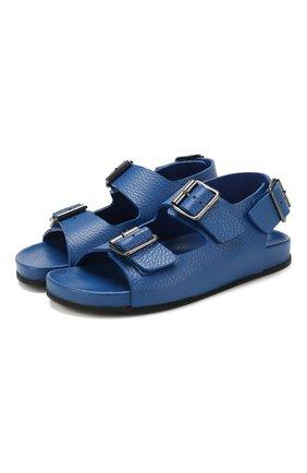 Детские кожаные сандалии GALLUCCI синего цвета, арт. J10090AM/SA T G0M D0L | Фото 1