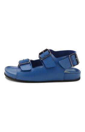Детские кожаные сандалии GALLUCCI синего цвета, арт. J10090AM/SA T G0M D0L | Фото 2